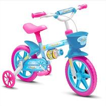 Bicicleta Aro 12 Infantil Con Canastita Y Rueditas Azul