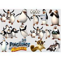Kit Imprimible Pinguinos De Madagascar Fiesta 3x1