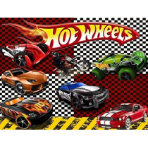 Kit Imprimible Hot Wheels Fiesta 3x1