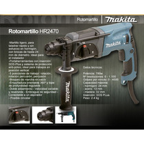 Makita, Taladro Rotomartillo 800wths 24mm Hr2470