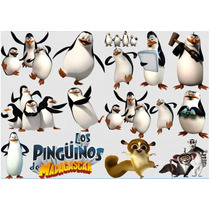 Kit Imprimible Pinguinos De Madagascar Fiesta 3x1