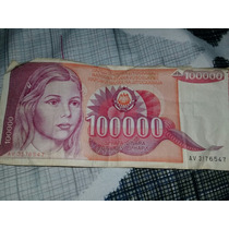 Billete De 100mil Dinar Yugoslavo Antiguo 1989